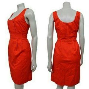 J. Crew Factory Pleated Cotton Shift Dress